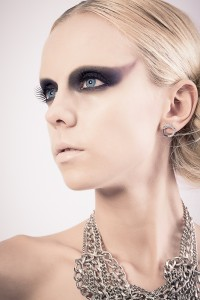 model kayla alise, makeup and hair by student from Avalon School of Cosmetology