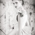 3/4 Length Black and White using Industrial Grunge, shot at F14