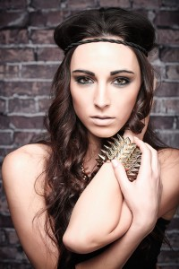model lindsey daniels, makeup and hair by student from Avalon School of Cosmetology