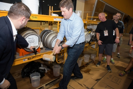 Phoenix Mayor Gregory Stanton at Real Wild and Woody Craft Beer Festival 2015